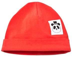Mini Rodini Red Basic Beanie Hat