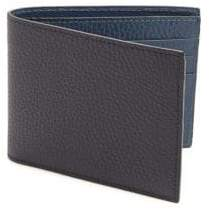 Saks Fifth Avenue COLLECTION Leather Bi-Color Billfold Wallet
