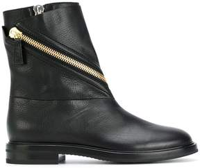 Casadei asymmetric zip ankle boots