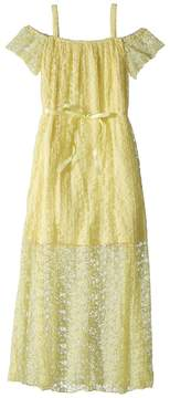 Us Angels Pleated Lace Maxi Dress Girl's Dress