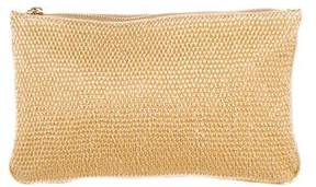 Stella McCartney Woven Vegan Leather Zip Pouch