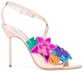 Sophia Webster floral metallic sandals