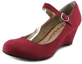 American Rag Ameesha Women Open Toe Synthetic Red Wedge Heel.