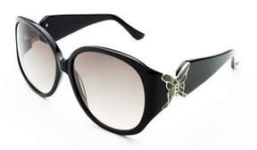 Judith Leiber Women's Butterfly Sunglasses Black.