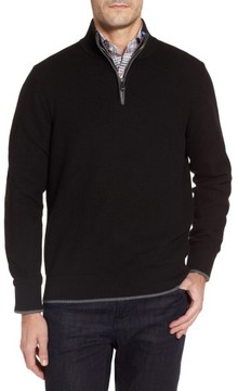 Tailorbyrd Men's Lafitte Tipped Quarter Zip Sweater