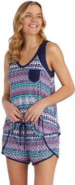 Cuddl Duds Women's Printed Tank & Boxer Shorts Pajama Set