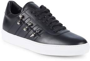 John Galliano Men's Studded Leather Low-Top Sneakers