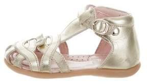 Jacadi Girls' Leather T-Strap Sandals