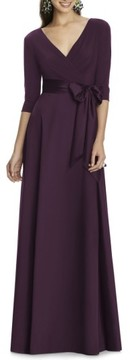 Alfred Sung Women's Jersey Bodice A-Line Gown