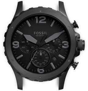 Fossil Nate Chronograph Black Stainless Steel Case