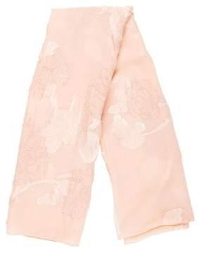 Alexander McQueen Silk Devoré Scarf