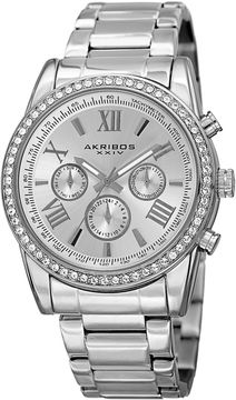 Akribos XXIV Unisex Silver Tone Bracelet Watch-A-868ss