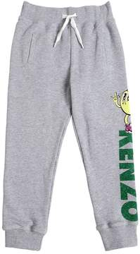 Kenzo Glittered Logo Cotton Sweatpants