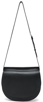 Givenchy Small Infinity Smooth Saddle Bag in Black.