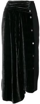 Aalto asymmetric striped midi skirt