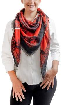 Givenchy Gw1414 Se038 1 Black/ Red Printed Scarf.