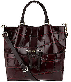 Dooney & Bourke As Is City Croco Small Leather Dawson Satchel