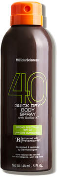 MDSolarSciences Quick Dry Body Spray SPF 40 Broad Spectrum UVA-UVB with SolSci-X