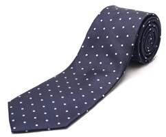 Luciano Barbera Men's Slim Silk Neck Tie Navy Light Blue.