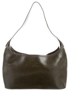 Longchamp Leather Hobo - GREEN - STYLE