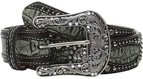 Ariat A1516828-S 1.5 in. Womens Gator Print Leather Belt, Green - Small