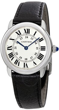 Cartier Ronde Solo Silvered Light Opaline Dial Ladies Watch