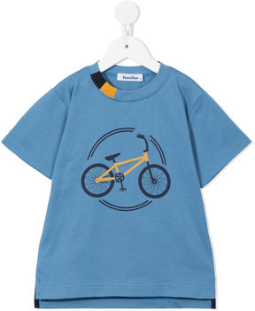 Familiar bicycle print T-shirt