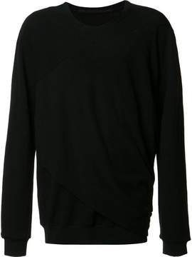 Julius draped detail sweatshirt