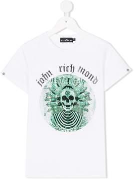 John Richmond Kids embellished skull print T-shirt