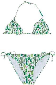 MC2 Saint Barth Kids TEEN cactus print bikini set
