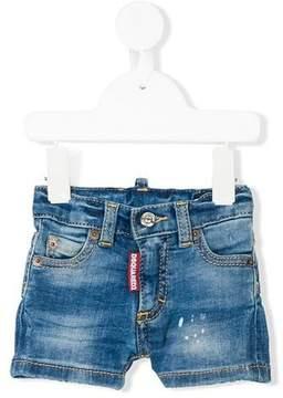DSQUARED2 faded denim shorts