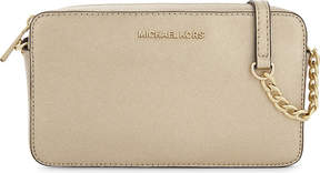 MICHAEL Michael Kors Medium metallic Saffiano leather cross-body bag - PALE GOLD - STYLE