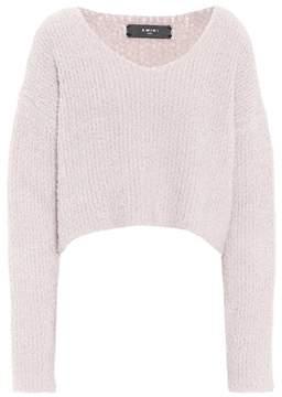 Amiri Cropped wool-blend sweater