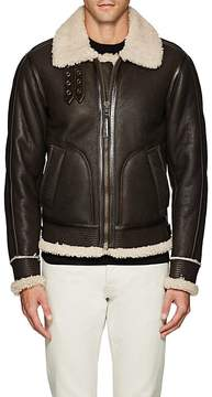 Barneys New York MEN'S SHEARLING AVIATOR JACKET
