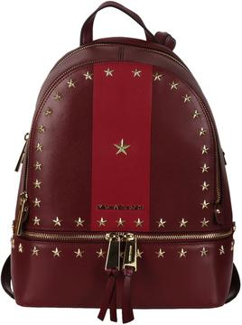 Michael Kors Studded Rhea Backpack - MULBERRY/CRANBERRY - STYLE