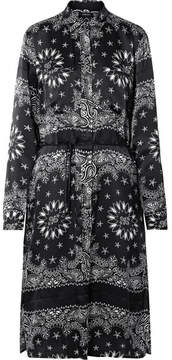 Amiri Printed Silk-satin Shirt - Black