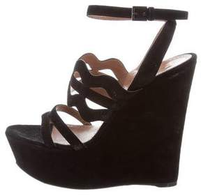 Alaia Suede Wedge Sandals