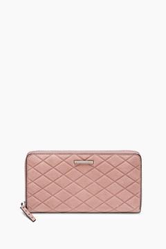 Rebecca Minkoff Embossed Nubuck Zip Bag Around Wallet - ONE COLOR - STYLE