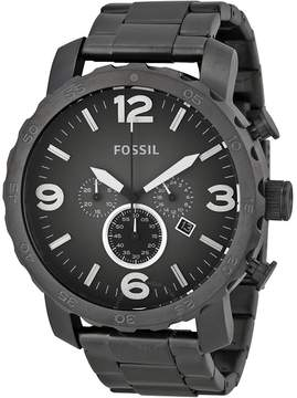 Fossil Nate Chronograph Smoke Grey Dial Ion-plated Men's Watch