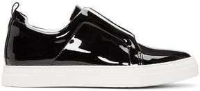 Pierre Hardy Black Patent Slider Sneakers