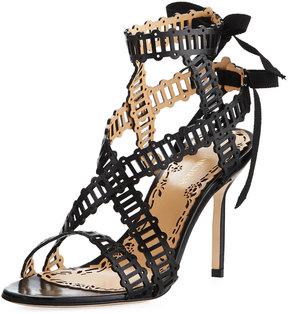 Marchesa Sarah Strappy Evening Sandal, Black