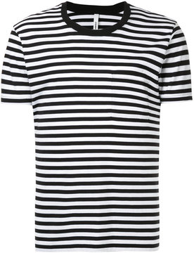 Attachment striped pocket T-shirt