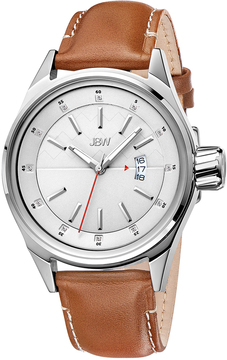 JBW Men's Rook Stainless Steel & Diamond Date Watch, 43mm
