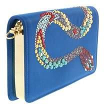 Roberto Cavalli Fqb881 Ra018 D3482 Cerulean/multicolor Shoulder Bag
