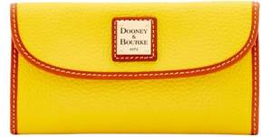Dooney & Bourke Pebble Grain Continental Clutch Wallet - SUNSET - STYLE