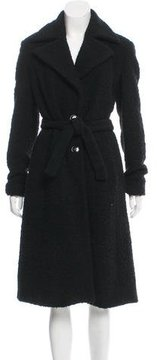 Emporio Armani Wool-Blend Bouclé Coat