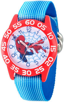 Marvel Spiderman Boys Blue Strap Watch-Wma000178