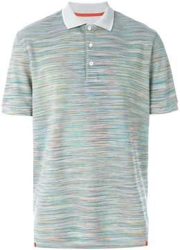 Missoni tonal polo shirt