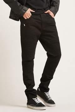 21men 21 MEN Zip-Front Moto Pants