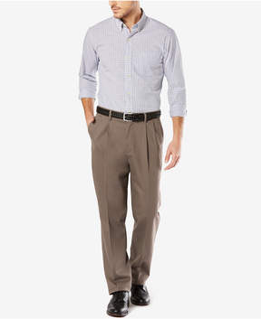 Dockers Stretch Classic Fit Signature Khaki Pants Pleated D3